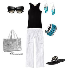 Casual styling, created by obsessionss on Polyvore