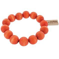 Strong and striking, yet simple and sweet. Rock some raw beauty. aarikka Orange Pohjola Bracelet.