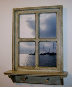 Check out Framed Photography,Window Frame, Distressed WIndow, Annapolis Photo, Sail Boat Photo, Wood Shelf, Framed Photo, Gift Idea on pineterracetreasures