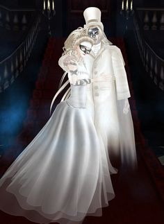 Captured Inside IMVU - Join the Fun! Snapshot for Maskerade Ball contest. Items wearing for two avatars were made by me, Ghosts collection.