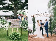 #bayfieldweddings #beachwedding Lace & Brass Events, LLC Photo Credit- Jaimee Morse