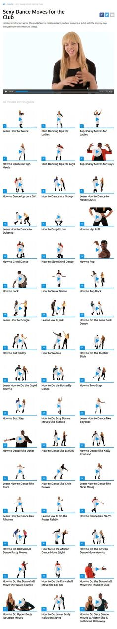 Sexy Dance Moves for the Club || Let dance instructors Victor Sho and LaShonna Halloway teach you how to dance at a club with the step-by-step instructions in these 48 Howcast videos.--  http://howcast.com/guides/1100-sexy-dance-moves-for-the-club/