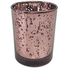 """Just Artifacts Mercury Glass Votive Candle Holder 2.75""""H Speckled Marsala - Mercury Glass Votive Candle Holders for Weddings and Home Décor"""