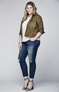 Plus Size Crop Utility Jacket