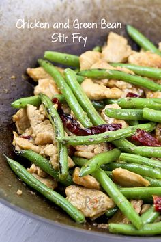 Quick and easy Chicken and Green Beans Stir Fry with more heat, flavor intensity, and a touch of smokiness. | Food to gladden the heart at RotiNRice.com