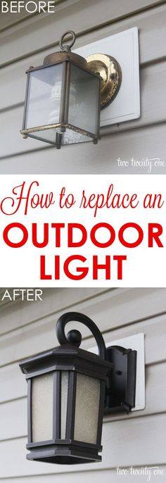 How to replace an outdoor light.  It's easier than you think!