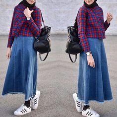 Modern Hijab Fashion, Street Hijab Fashion, Islamic Fashion, Muslim Fashion, Modest Fashion, Skirt Fashion, Fashion Outfits, Casual Hijab Outfit, Hijab Chic