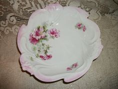 Antique Bavaria Germany large bowl floral design by FabulousFinds1, $34.50