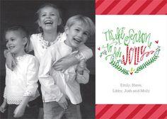 'Tis the Season Stripes Flat Photo Cards