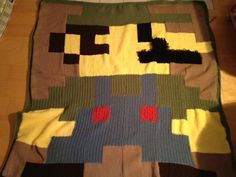 I could so recreate this, Mario and Luigi  quilt here I come