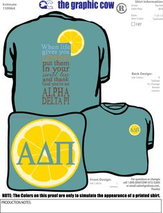 When life gives you lemons, put them in your sweet tea and thank God you're an Alpha Delta Pi <3