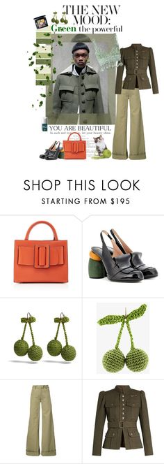"""""""GO GREEN !"""" by scapin ❤ liked on Polyvore featuring Boyy, Dries Van Noten, Rosie Assoulin and Marc Jacobs"""