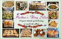 Mother's Day Side Dish recipes | www.BakingInATornado.com | #MyGraphics #recipe