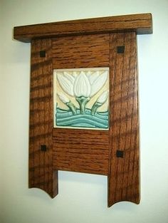 Mission Arts and Crafts Frame with Tile Inset - by Max ...