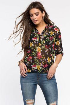 Блуза Размеры: S, M, L Цвет: черный с принтом Цена: 1489 руб.     #одежда #женщинам #блузы #коопт