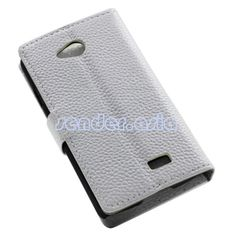 Genuine Leather Stand Protective Case for LG F60