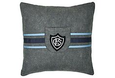 Pillow w/ School     Badge
