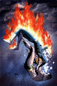The Human Torch vs Namor