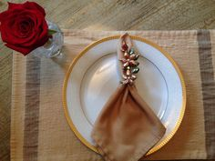 Handmade beaded napkin ring holder set of 6 by uniqueitemsforu1