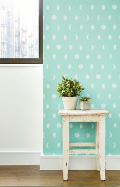 Chasing Paper wallpaper- The faces of the moon is a perfect fit for any room.