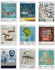 Illustrations: Raconteur covers Q3 - Q4 2012 on Behance