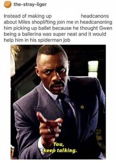 Maybe not ballet bc that doesn't seem very Miles, but maybe a combo of things to utilize in his spiderman training? ballet<<< definitely not ballet hip hop and contemporary definitely Marvel Memes, Marvel Avengers, Marvel Comics, Spider Verse, Fandoms, Angst Quotes, Deadpool, Hulk, Dc Movies