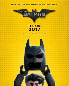 The LEGO Batman Movie poster has been released by Warner Bros. Will Arnett reprises his LEGO Movie voice for the 2017 film. Batman Vs, Batman Robin, Batman Em Lego, Spiderman, Batman Party, Batman Poster, Batman Logo, Batman Artwork, Lego Film