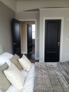 Exactly what I want! Black doors, black floors.