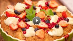 Rood fruit crumble taart -