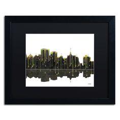 Oakland California Skyline by Marlene Watson Framed Graphic Art