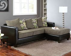 Radar Graphite 2 PC. Sectional Sofa | Living Rooms | American Freight Furniture