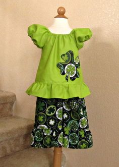 Girl St. Patrick's Day Outfit Baby Toddler by TootandPuddle, $30.00