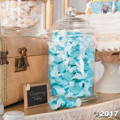 A sweet, chewy treat for any occasion! Add these mouth-watering fruit flavors to candy buffets at wedding receptions, toss into birthday party gift ba. Taffy Candy, Blue Beach Wedding, Salt Water Taffy, Mermaid Baby Showers, Party Gift Bags, Nautical Party, Oriental Trading, Party Guests, Candy Buffet