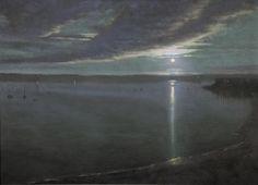 1stdibs   Thomas Kegler - Nocturne Over Harbor, Job 9:6-9