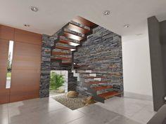 Fotos de pasillo, hall y escaleras de estilo translation missing: mx.style.pasillo-hall-y-escaleras.moderno de chazarreta-tohus-almendra | homify