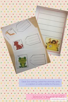 Dear Zoo  example page from classroom book   Literacy   Pinterest