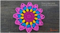 Cómo tejer tapete, flor o mandala crochet paso a paso en imágenes.