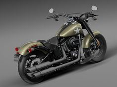 2016 Harley Davidson Military | Harley Davidson Softail Slim S Army Design 2016 - 3d model - CGStudio