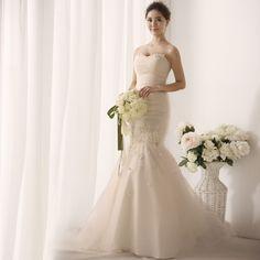 2014 Nouvelle robe de mariée bustier de tutu de princesse douce et de fuite de sirène S1392