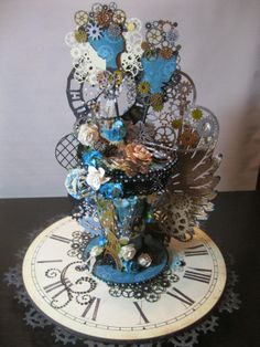 Gina's Designs: An Altered Spool in a Steampunk theme by Kathi