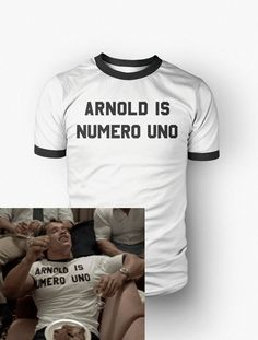 Arnold Is Numero Uno T-Shirt - arnold schwarzenegger, actor, funny celebrity tee shirt, mens, gift, movie, humor, pumping iron, work out