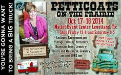 Fall show in Levelland, Texas! Fall Shows, Petticoats, Special Guest, Repurposed, Vintage Outfits, Marketing, Handmade, Texas, Inspiration