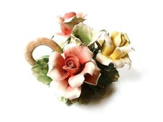 Vintage Antique Capodimonte Candle Holder by PrettyShinyThings4U, $28.00