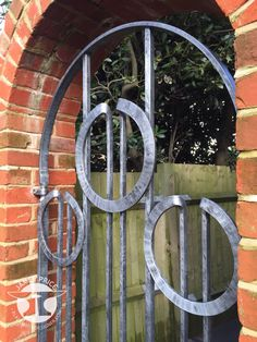 Circle contemporary forged blacksmith gate detail, by James Price Blacksmith