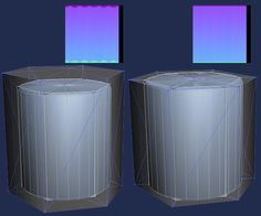 Cylindrical shapes normal map baking, newbie problems - Polycount Forum