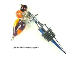 Hey, I found this really awesome Etsy listing at https://www.etsy.com/listing/198106488/wine-bottle-stopper-with-lampwork-beads