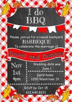 Barbecue Party Invitations- BBQ invitations NEW selections winter 2016