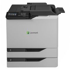 Lexmark CS820DTFE Color Laser Printer (21K0250). The Lexmark CS820dtfe color printer brings production-level performance and quality to the office with advanced imaging technology standard input capacity of up to 1200 pages and inline stapling. Lexmark CS820dtfe Color Laser Printer (60 ppm) (1.2 GB) (Duty Cycle 200 000 Pages) (Duplex) (USB) (Ethernet) (Touchscreen) (2 x 550 Sheet Input Trays) (100 Sheet MPT) (Stapler) (HW -- No Free Freight). Color Laser.