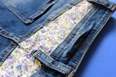 DIY - personnaliser un short jean en liberty