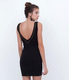 df5bc62a0 vestido tubinho preto com decote nas costas